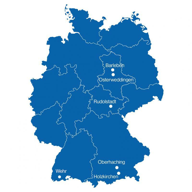 Standorte in Deutschland